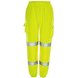 MyShoeStore – Pantalones de chándal de alta visibilidad para correr