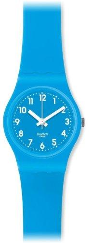 Swatch LS112 – Reloj analógico de cuarzo para mujer con correa de silicona, color azul