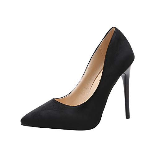 Makefortune-Schuhe Damen Spitzen Stilettos, Ultra Hochhackige Slip On Pumps Pumps Pumps Stilettos Wildleder Volltonfarbe High Heels für Party Prom Club Sexy Stiletto High Heel Pumps