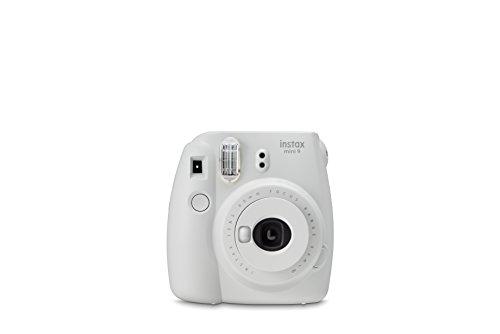 Foto Fujifilm Instax Mini 9 Smoky White Fotocamera Istantanea per Foto Formato 62x46 mm, Bianco