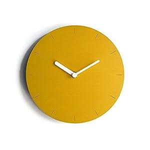 19cm Kleine hölzerne ruhige wanduhr ohne tickgeräusche in vielen farben wie banane gelb Keine tickenden wanduhren…
