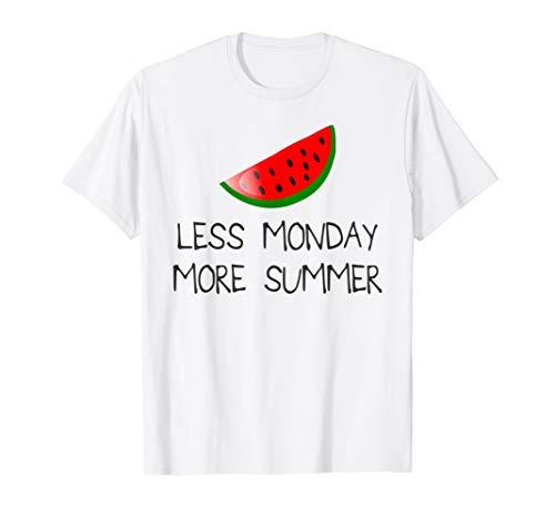 Wassermelone Bekleidung (Weniger Montag Mehr Sommer T-Shirt Melone Freizeit Urlaub)