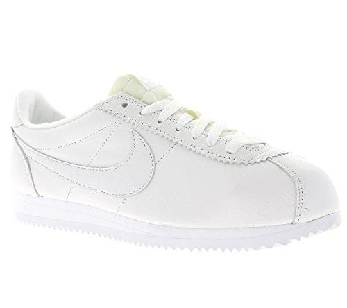 Nike Classic Cortez Prem, Chaussures de Running Entrainement Homme Blanc (blanc / blanc)
