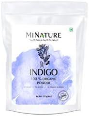 مسحوق مي نيتشر ازرق نيلي لصباغة الشعر طبيعي 100٪ عضوي نما طبيعيًا - مسحوق ازرق نيلي للشعر (227 غم/ (1/2 رطل /
