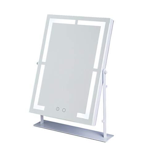 FYCZ Miroir de Maquillage, Carré Avec la Lumière de LED Peut Être le Miroir Cosmétique Tournant de Beauté de Rotation de 360 ° (taille : Charging)