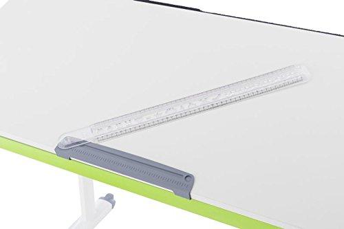 Kettler - Righello da scrivania, in plastica, Grigio, 55,7 x 5,7 x 2,8 cm