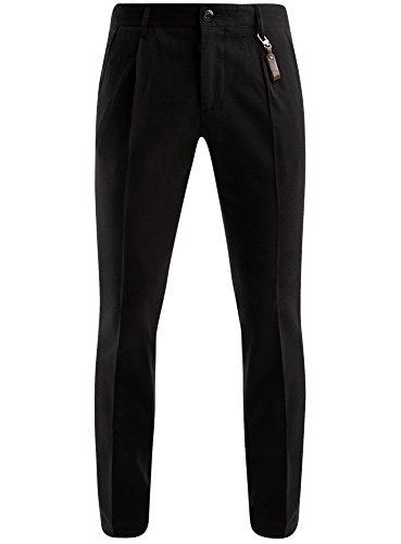 oodji Ultra Uomo Pantaloni Classici, Nero, IT 44 / EU 40 / M