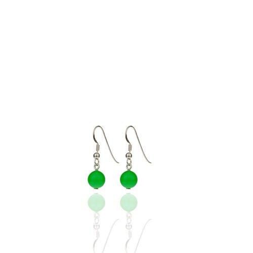 Ohrringe 925 Silber mit SWAROVSKI ELEMENTS Neon Grün