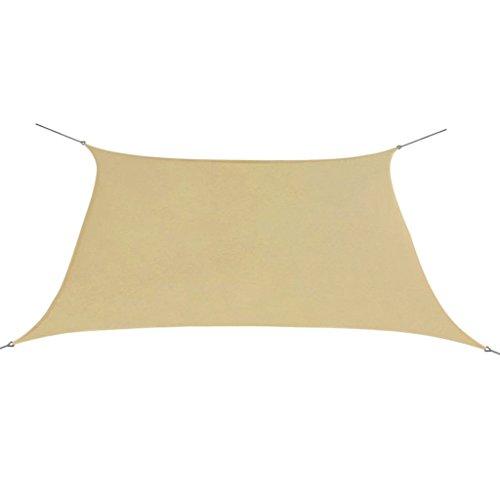 vidaXL Sonnensegel Oxfordgewebe Quadratisch 2x2m Beige Sichtschutz Windschutz