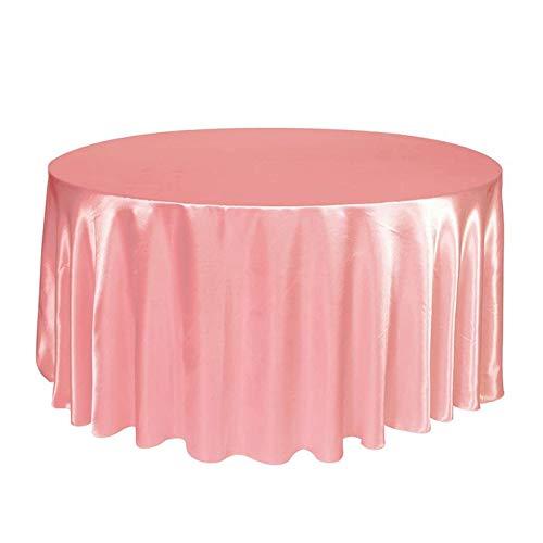 nde Satin Tischdecke Tischdecke Abdeckung Overlay Wasserdichte staubdicht Hochzeit Veranstaltungs Home DIY Dekoration einfarbig ()