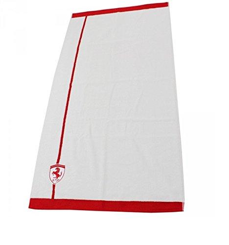 Ferrari Formula 1Sport Tempo libero da bagno asciugamano da bagno bianco/rosso 70x 140cm asciugamano da bagno nuovo