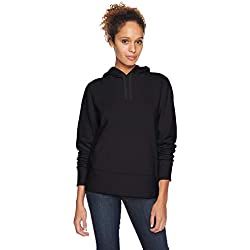 Amazon Essentials - Sudadera de tejido de rizo francés con capucha y forro polar para mujer, Negro (Black), US XL (EU 2XL)