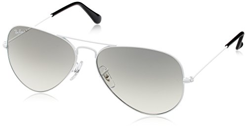 Ray-Ban Aviator Sunglasses (White) (RB3025|032/3258)