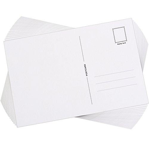 Foto de Postales en Blanco con Lado de Correo, 6 por 4 Pulgadas, 60 Piezas