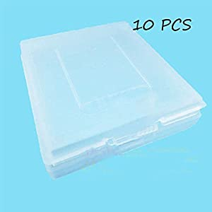 Laixing Gute Qualität 10pcs Clear White Game Cartridge Case fur Game Boy Color GBC