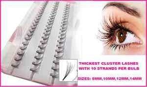 Extensions individuelles de faux cils épais 12 mm