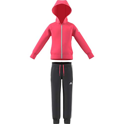 adidas Mädchen Knit Trainingsanzug, Super Pink/Carbon/White, 98