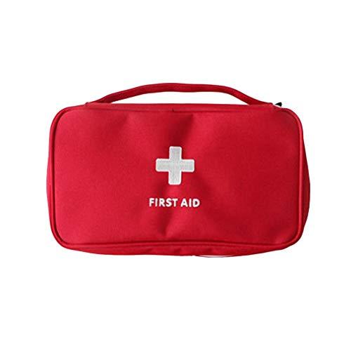Tragbare Medizintasche Mehrschichtige Erste-Hilfe-Ausrüstung für den Außenbereich Rettungstasche Rot
