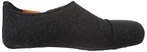 Haflinger Future, Chaussons mixte adulte Gris - Grau (graphit 77)