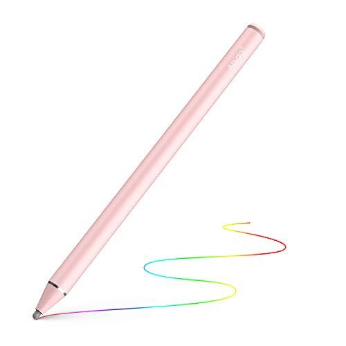 Abida Stylus Stift: Wiederaufladbarer Stift mit 5-Minuten Auto Power Off und Feiner Faser Fine Spitze, Kompatibel mit iPad Pro/iPad 2018/iPhone XS, Samsung (Rot) (Ipad Stylus Fine)