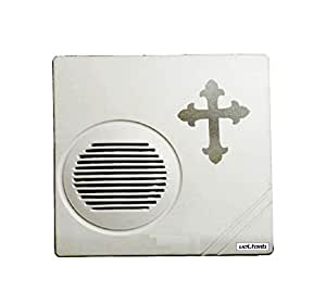 VOLtORb - Kross Softy Musical - Church Bell Sound Musical Door Bell (1 Tunes) - White Color, Material Plastic - Matt Finish - 1 Piece Wired Door Bell