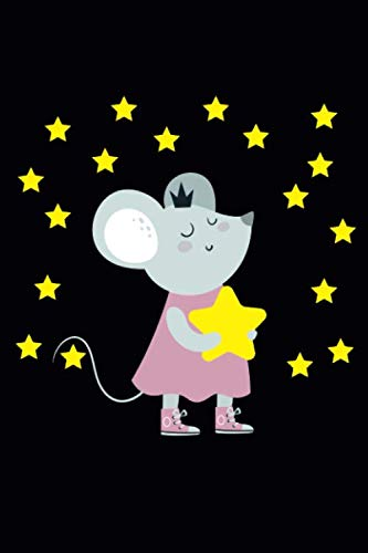 Mouse with stars: DIN A5 | (6x9 inch) | lined (liniert) | Notizbuch | Notebook | 120 Seiten (120 pages) -