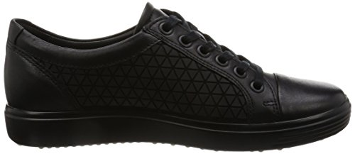 Ecco Damen Soft 7 Ladies Sneakers Schwarz (55351BLACK/BLACK)