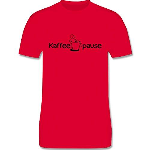Küche - Kaffeepause - Herren Premium T-Shirt Rot