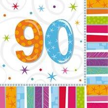 (Amscan Geburtstags-Servietten 90 Jahre, 16 Stück)