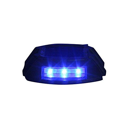Alluminio blu solare 6-LED strada esterna Driveway Dock percorso di terra della luce della lampada CIS-57653C