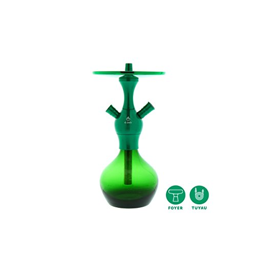 Cachimba Shishas Fumar Modelo El Badia C1 Green Mint. Narguile Shishas Verde