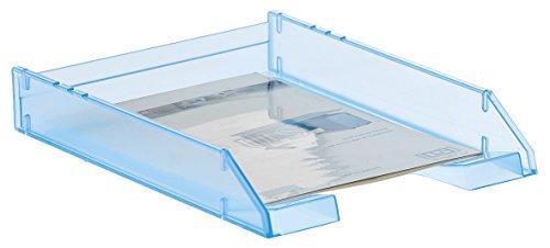 Archivo 2000 715LGTL - Bandeja apilable organizadora para documentos en formato A4 y folio, color azul mar traslúcido