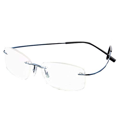 GEMSeven Unisex Ultra Light Flexible Frameless Brille Frauen Männer Randlose Lesebrille Diopter