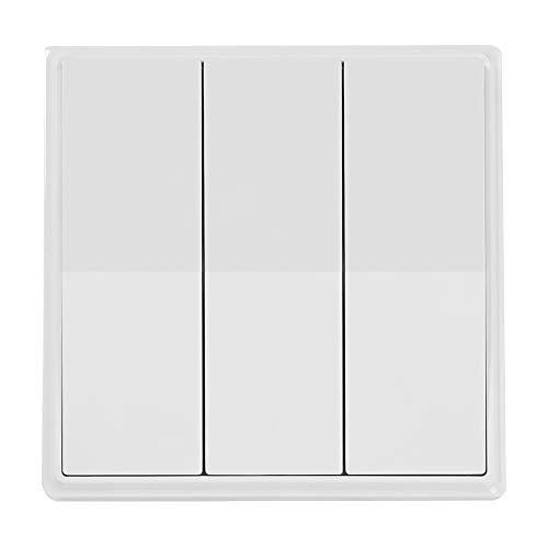 Interruptor de pared para Smart Home (3 vías, 3 interruptores, inalámbrico, cuerpo...