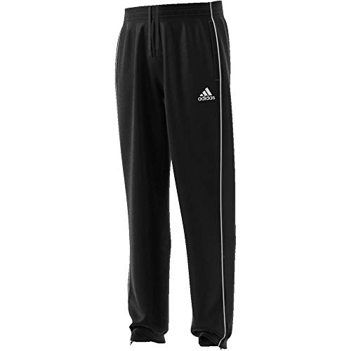 adidas Herren Core 18-CE9060 Sport Trousers, Black/White, L - Adidas Winter-kollektion