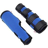 Leggings para perros Cinturón auxiliar, tres tamaños de un par de perros de edad azul, perros discapacitados, mascotas, rodilleras, leggings, perros, cubiertas de lesiones quirúrgicas ( Tamaño : L )