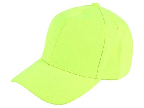 Sonnenscheinschuhe® Basecap Kappe NEON GELB UNISEX Base Cap Baseballcap Schirmkappe Mütze