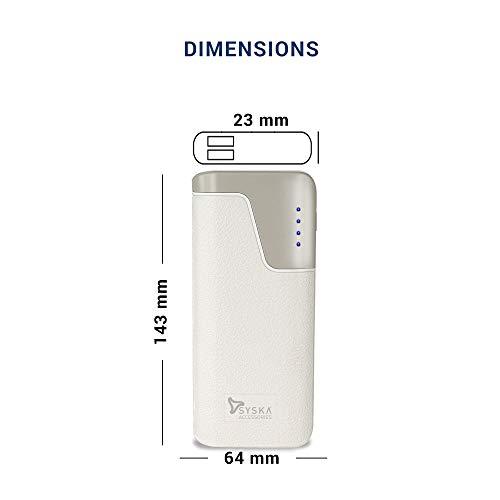 Syska Power Vault100 10000mAH Lithium Ion White Image 7