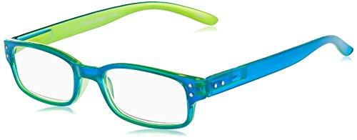 I NEED YOU Lesebrille CHAOT, blau-grün, +3.00 dpt.: Lesebrille mit Federtechnik, Stärke: +3.00 dpt. (in weiteren Farben/Stärken erhältlich)