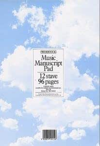 Woodstock Music Manuscript Paper: 12 Stave - 96 pages (A4)