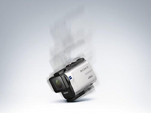 Sony FDR-X3000R 4K Action Cam mit BOSS (Exmor R CMOS Sensor, Carl Zeiss Tessar Optik, GPS, WiFi, NFC) mit RM-LVR3 Live View Remote Fernbedienung, weiß - 30