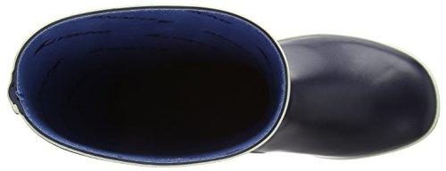 Viking Fjord, Bottes en caoutchouc de hauteur moyenne, non doublées mixte adulte Bleu - Bleu marine