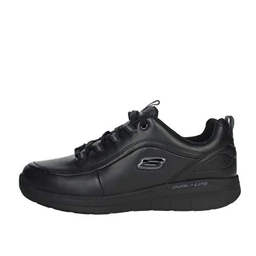 Skechers Uomo Sinergy 2.0 WESTMARSH Black Scarpe Comode Memory Foam (43 EU)