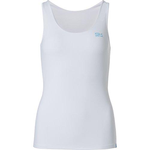 Sportkind Mädchen & Damen Tennis / Fitness / Running Tanktop, weiss, Gr. 122