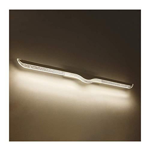 AZWE & LED-Spiegelfrontleuchte Spiegelfrontleuchte, Badmöbel wasserdicht und beschlagfrei mit Acryl-LED-Spiegelscheinwerfern,Weißlicht-80cm / 16w
