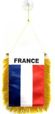 AZ FLAG Fanion France 15x10cm - Mini Drapeau français 10 x 15 cm spécial Voiture - Bannière