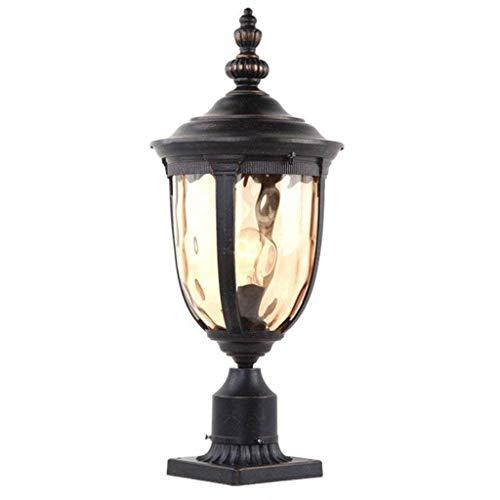 r Pfosten Licht Bronze 48cm hohe Leuchte mit Pier Halterung für Deck Patio Eingang (Size : High 43cm) ()