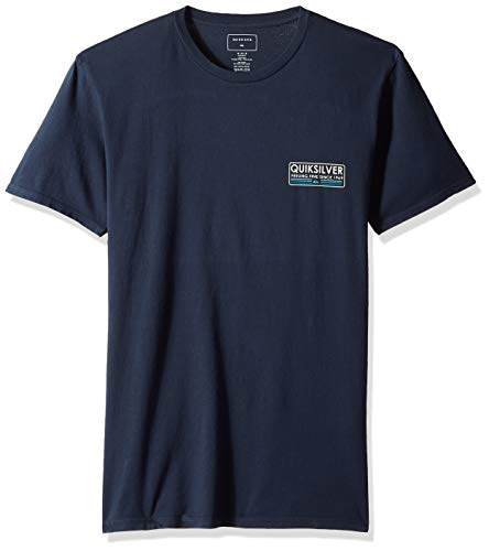 Quiksilver Herren Paddle Forward Short Sleeve Hemd, Blue Nights, Mittel