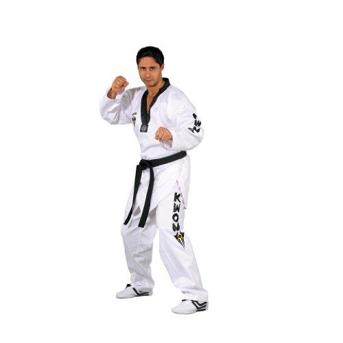 Kwon Kampfsportanzug Taekwondo Starfighter Schwarzes Revers, weiß, 160, 1007160 (Gürtel Tae Kwon Do)