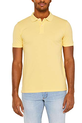 ESPRIT Herren 029EE2K034 Poloshirt, Gelb (Yellow 750), XXX-Large (Herstellergröße: 3XL)